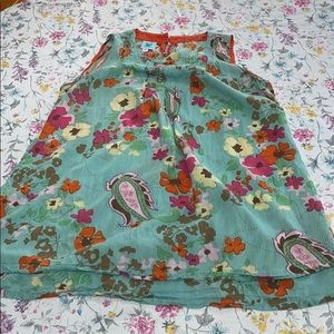 Karma Living brand cotton top, XL floral